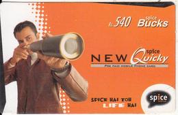 INDIA - Life Hai, Spice Telecom Recharge Card Rs.540, Used - India