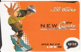 INDIA - Life Hai, Spice Telecom Recharge Card Rs.350, Used - India