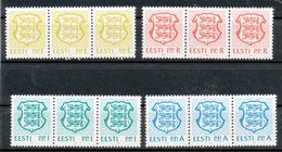 Estland   - Mi.Nr.  183 - 185    - Postfrisch   3er Streifen      Freimarken: Staatswappen - Estland
