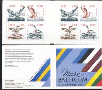 Estland   - Mi.Nr.  188 - 191   - Postfrisch  MH  1    Naturschutz An Der Ostseeküste: Vögel   1992 - Estland