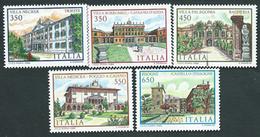 Italia,Italy 1986; Ville Monumentali,Monumental Villas:Necker,Borromeo,Palagonia,Medicea,c.Issogne.Serie Completa.Nuovi. - Monuments