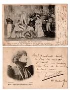 FEMME ARTISTE . SARAH-BERNHARDT . 2 CARTES POSTALES - Réf. N°1933 - - Femmes Célèbres