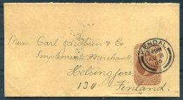 1900 GB QV Stationery Newspaper Wrapper. Ricjhardson & Co. Coopers Kendal - Helsingfors, Finland - Briefe U. Dokumente