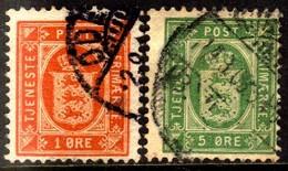 10706 Dinamarca Serviço 4 + 7 Brasão U - Port Dû (Taxe)