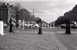 1963 FIAT 600 AVENUE CHAMPS ELYSEES  PARIS FRANCE 35mm  AMATEUR NEGATIVE NOT PHOTO NEGATIVO NO FOTO - Other