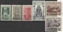 LUXEMBURGO  **   1938   300/305 - Nuevos