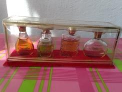 4 Echantillons Miniatures HOUBIGANT CHANTILLY Parfum 2,5FL Oz, IDEAL Edt TEA ROSE Cologne QUELQUES FLEURS Edt 5FL Oz - Miniatures Anciennes (jusque 1960)