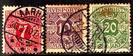10679 Dinamarca Jornais 3/5 Numerais U - Port Dû (Taxe)