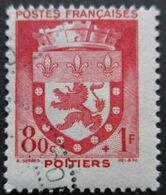 FRANCE Armoirie De Poitiers N°555 Oblitéré - 1941-66 Wapenschilden