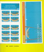 Bloc-carnet Adhésifs De 2002 Neuf**  Y&T N° Bc33 Bonnes Vacances Bc 3494 A - Luchtpost