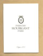 Très Beau Livret 10 Pages Perfume Booklet PARFUMS HOUBIGANT PARIS *** 1 EX - Modernes (à Partir De 1961)