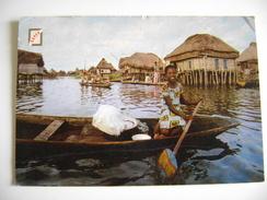 BENIN  Village Lacustre De GANVIE  - USED STAMP TIMBRES  REPUBLIQUE  TOGOLAISE    AFRICA  AFRIQUE   VIAGGIATA - Benin