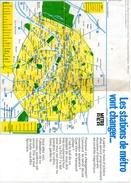 Plan Métro Parisien 1973. Au Verso Nouveaux Titres De Transport Magnétiques Avec Coupons Hebdomadaires. - Europe