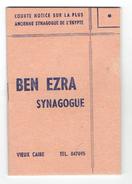BEN EZRA SYNAGOGUE NOTICE SUR LA PLUS ANCIENNE SYNAGOGUE D EGYPTE VIEUX CAIRE JUDAICA JUIF - Religione & Esoterismo