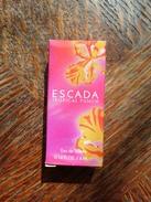 Echantillon Miniature TROPICAL PUNCH D' Escada Magaretha Ley EDT 4ml Pleine Neuve - Miniatures Modernes (à Partir De 1961)