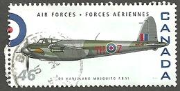 Sc. # 1808a Air Force, De Havilland Mosquito F.B. VI Single 1999 Used K060