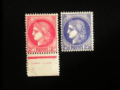 373-375A   CERES   NEUF **    (léger Pli Sur 373 ) - Frankreich