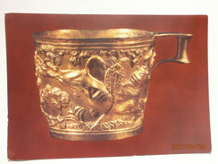 Postcard Athens National Arch Museum Gold Cup From Vaphio My Ref B21226 - Museum