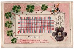 1 - AMITIE - Mon Secret - J'espère Que  ... * Gnôme - Lutin - Trèfles à 4 Feuilles - Coccinelles *J. BRIEN, Bruxelles* - Cartes Postales