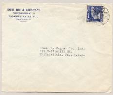 Nederlands Indië - 1938 - 15 Cent Wilhelmina Type Kreisler Op Cover Van Padang Naar Philadelphia / USA - Nederlands-Indië