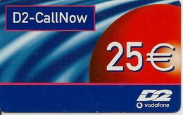 CARTE-PREPAYEE-ALLEMAGNE-25€-VODAFONE-D2-CALLNOW-02/04-TBE - Allemagne