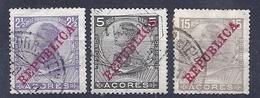 170027205  AZORES  YVERT    Nº  123/124/126 - Azores