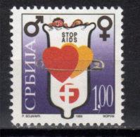 Yugoslavia,Stop AIDS 1999.,MNH - 1992-2003 République Fédérale De Yougoslavie