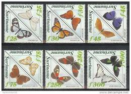 Nds0808 *SPECIAL* FAUNA VLINDERS BUTTERFLIES SCHMETTERLINGE MARIPOSAS PAPILLONS SURINAME 1994 PF/MNH