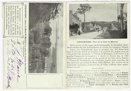 50 - AVRANCHES - Carte Lettre En 2 Parties (scan Recto-verso) - Avranches