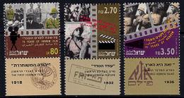 A5478 ISRAEL 1992, SG 1195-7 75th Anniversary Hebrew Films,  MNH - Israel