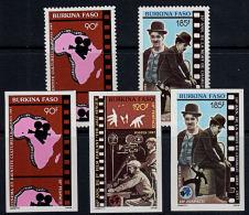 D0215 BURKINA FASO 1987, SG 889-91 10th Fespaco Film Festival,  MNH (3 @ IMPERF) - Burkina Faso (1984-...)