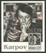 Grenada      Anatoly Karpov,Chess Champion   Souvenir Sheet   SC# 3385 MNH** SCV$15.00 - Grenada (1974-...)