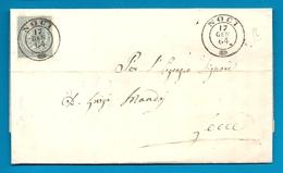 ITALIE - YT#17 S/lettre De NOCI Pour LECCE (Pouilles) -1864 - Marcophilie
