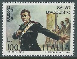 1975 ITALIA SALVO D'ACQUISTO MNH ** - ED - 6. 1946-.. Republic