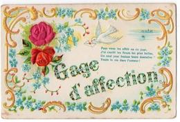 3 - AMITIé -  Gage D'affection  *relief  -  Embossed * - Cartes Postales