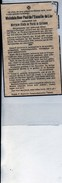 De L'escaille De Lier De Turck De Kersbeek Miskom+1936 Attenrode-Wever Burgemeester Tienen Tirlemont Boisschot Booischot - Obituary Notices