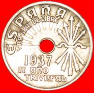 § AUSTRIA: SPAIN ★ 25 CENTIMOS 1937! LOW START★ NO RESERVE! - Nationalist Location