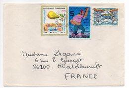 Tunisie--1975--lettre De MONASTIR Pour CHATELLERAULT--86 (France)--timbres+ Cachets - Tunisia