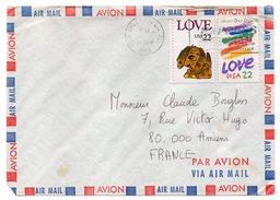 USA--1986--Lettre De NEW ORLEANS Pour AMIENS (France)--beaux Timbres+cachet - Stati Uniti