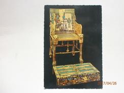 Postcard Throne Of Tutankhamon Egyptian Museum Cairo Egypt My Ref B21235 - Museum