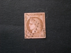 FRANCE FRANCIA 1849 CERES 10c. BISTRE BRUNE  YVERT  N.1 A - 1849-1850 Cérès