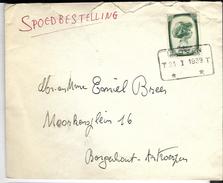 _6ik-852:EXPRES:  N° 494: LEUVEN  T 23 I 1939 T . > Borgerhout-Antwerpen : Geen Aankomststempel - Briefe U. Dokumente