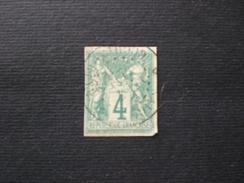 ФРАНЦИЯ FRANCE FRANCIA 1876 SAGE 4c VERT I TYPE N .63a YVERT NON DENTELES - 1876-1878 Sage (Type I)