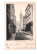92 Saint Cloud L' Eglise Cachet 1901 + Timbre - Saint Cloud