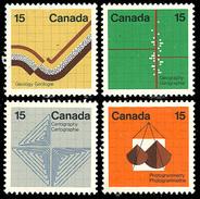 Canada (Scott No. 582-85 - Les Sciences De La Terre / Earth Sciences) [**] - 1952-.... Règne D'Elizabeth II
