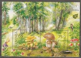 Slovenia 1996 Mushrooms Mi#Block 3 Mint Never Hinged - Slovénie