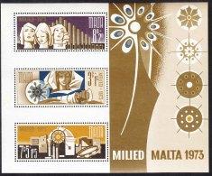 Malta 1973 Mi#Block 3 Mint Never Hinged - Malta