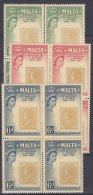 Malta 1960 Mi#272-274 Mint Never Hinged Blocks Of Four - Malta