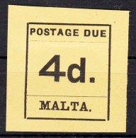 Malta 1925 Porto Mi#7 Mint Hinged - Malta