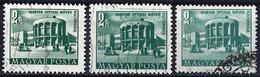 Hungary 1953 - Iron Works School In Csepel ( Mi 1314 - YT 1091 ) Three Shades Of Color - Abarten Und Kuriositäten